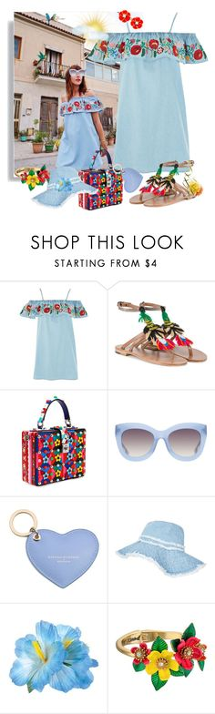 """Summer outside and summer inside of me..."" by m-kints ❤ liked on Polyvore featuring Topshop, Álvaro, Dolce&Gabbana, Alice + Olivia, Aspinal of London, Betsey Johnson, Kate Spade and denim"