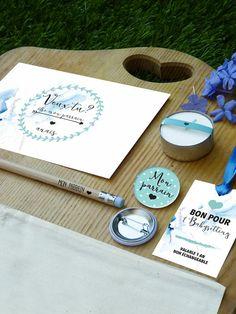Idée cadeau de baptême : un kit pour le parrain et la marraine