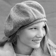 Grey pinstripe wool tam, ZUTtam - product images  of