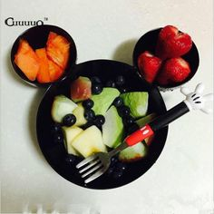 BPA Free Kid Infant Baby Feeding Bowl Food Rice Fruit Dishes Fashion Melamine Tableware Set With Knife And Fork Child Dinnerware
