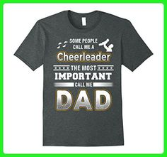 Mens BeeTee: Most Important Call Me Cheerleader Dad T-Shirt 2XL Dark Heather - Relatives and family shirts (*Amazon Partner-Link)