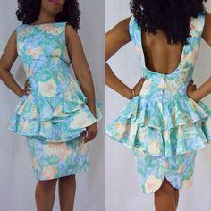 Vintage 90s Tea Party Floral Dress