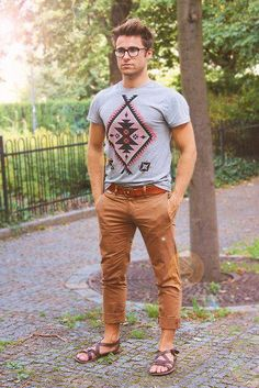 How do you style your tee? James wears his with cuffed pants and sandals.