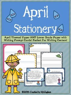 "{FREEBIE}This set of APRIL Upper and Lower Grade themed writing stationery is PERFECT for your writing centers, creative writing lessons, or just ""because"".    And, since it is FREE, what more could you ask?"
