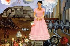 Frida Kahlo's Self-Portrait on the Borderline Between Mexico and the United States (1932). Detroit Institute of Arts