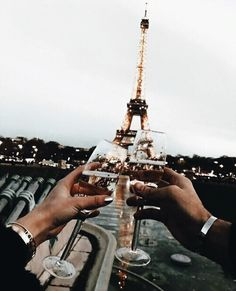 Celebrating in Paris, France, Eiffel Tower ... #travelwork #worktravel Join us around the world. Work and travel learn more at www.GLtribe.com