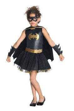 "Justice League Child's Batgirl Tutu Dress Rubie's Costume Co. $16.99. Since 1950 Rubie's Costume Company has been making dress-up fun with costumes and accessories for the entire family. Hand Wash.. Child's size Medium fits most 5 to 7 year olds, 50"" to 54"" tall. polyester. Justice League is a trademark of DC Comics, Warner Brothers and Cartoon Network, use in this costume is officially licensed. Look for the entire Justice League tutu dress collection, also available in adult ..."