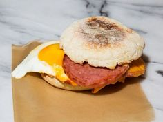 Pork Roll Breakfast Sandwich -   Make these hangover helpers with the processed meat pride of New Jersey: pork roll