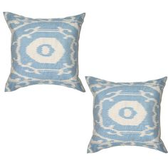 Pair of pillows for the bed. To be paired with oversized lumbar IKAT