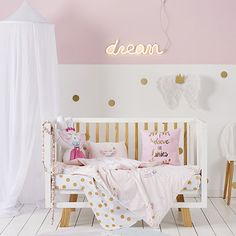 Bunny Wishes Cot Quilt Cover Set