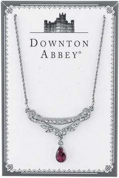 Downton Abbey® Boxed Silver-Tone Purple Crystal Necklace
