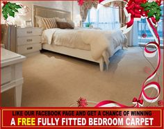 This Christmas enjoy a Free Fully Fitted Bedroom Carpet in your home. All you need to do is like us on Facebook and participate. You can also avail a 10% discount on our carpet fitting services.