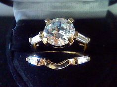 2.50CTW  ROUND & BAGUETTE LCS DIAMOND ENGAGEMENT WEDDING RING SET SZ 10 + GIFT #EXCEPTIONALBUY