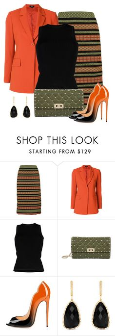 """""""Untitled #1594"""" by gallant81 ❤ liked on Polyvore featuring M Missoni, Theory, Roberto Collina, Valentino and Effy Jewelry"""