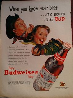 1953 Budweiser Ad by Inkart on Etsy, $3.00