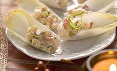 Barquinhas de endívia com salmão e batata - Receitas - Danone