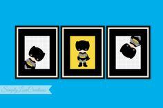 SUPERHERO BATMAN Prints // Superhero Pop by SimplyLoveCreations, $15.00