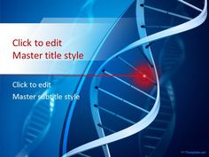 Free Genetics PPT Template with blue background #PowerPoint #templates