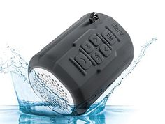 Jarv Big Shot Water Resistant Rugged Bluetooth Speaker with FM radio  Gray -- Check out the image by visiting the affiliate link Amazon.com on image.