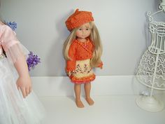 Ravelry: Kimono Sweater Fits 13 & Dolls pattern by Janice Helge Knitting Dolls Clothes Patterns, Doll Patterns, Kimono Pattern, Sport Weight Yarn, Child Doll, Yellow Sweater, Stockinette, American Girl, Ravelry