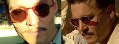 Johnny Depp in vintage specs.