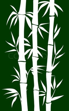 tropical wall stencils hawaiian foliage stencils Vector of abstract bamboo tree black Leaf Stencil, Stencil Art, Stencils, Tree Stencil, Wall Stenciling, Stencil Patterns, Stencil Designs, Bamboo Art, Bamboo Drawing