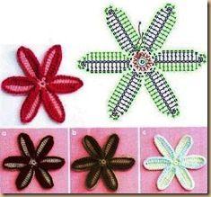 crochet 3D flower