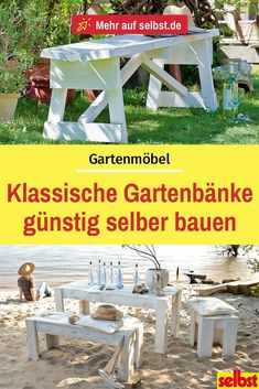 Gartenbank selber bauen Let yourself be ours for concrete, wood or gabion benches: we explain step by step how to make one by yourself can. Outdoor Plants, Outdoor Gardens, Banquette D Angle, Design Jardin, Most Beautiful Gardens, Concrete Wood, Diy Outdoor Furniture, Furniture Projects, Furniture Design