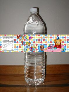 Daniel Tiger's Neighborhood Birthday Party Water Bottle Label