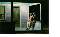 via Eileen @allovus  Miranda @honey_firefly 'Summer Evening' ~ Edward Hopper