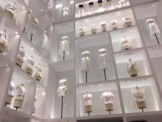 The Dior fashion exhibition in Paris at the Museum