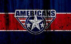 Download wallpapers Tri-City Americans, 4k, grunge, WHL, hockey, art, Canada, logo, stone texture, Western Hockey League