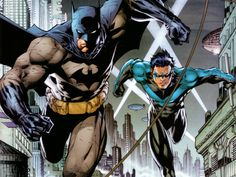 Nightwing Art | Batman and Nightwing by Jim Lee