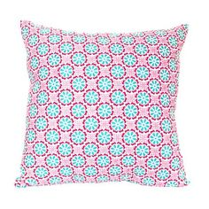 Add a preppy pop of style to your sofa, bed, or favorite arm chair with this plush pillow, showcasing a vibrant palette and on-trend design.