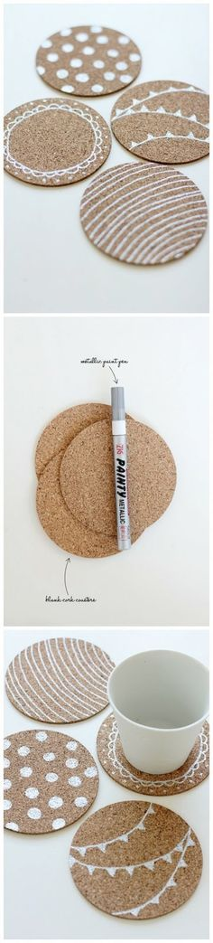 About the nice things: DIY Posavasos de corcho