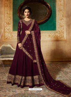 c39d9a1b05 Scintillating Purple Embroidered Designer Anarkali Suit
