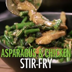 Skip the take-out tonight and make your own stir-fry. You'll love this version that uses asparagus and chicken!
