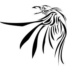 Tribal Raven Tattoo