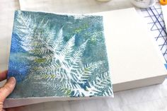 Mounting a fabric Gelli print by Lynda @ Bloom Bake and Create Cut piece to canvas size