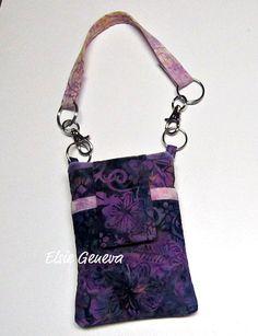 Purple Floral Batik  Phone Case with Wristlet / by elsiegeneva, $27.00
