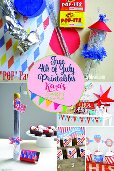 Free 4th of July Printables for your summer bash from Kara's Party Ideas. Grab them here!