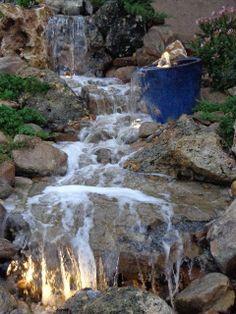 Waterfall created by Berkshire WaterGardens. #WaterfallWednesday.