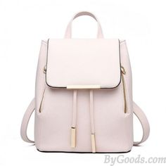 Elegant Pink Funky Lady Solid Simple Square PU Drawstring Hasp Satchel  Backpack only  36.99. School BackpacksWomen s BackpacksSatchel  BackpackTravel ... 7359fc7ea8d66