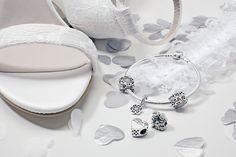 PANDORA charms to represent your special day. #loveargento #weddingjewellery #PANDORA #PANDORAbracelet #PANDORAcharm #charm #bride