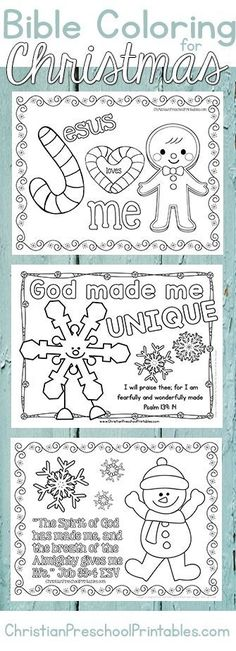 Christmas Bible Coloring Pages. A great set of free christian coloring pages and bible verse activities for little ones. Includes suggested book accompaniments.