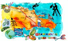 Eleni Tsakmaki - Dominican Republic map