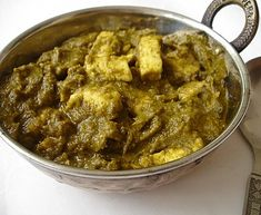 Palak Paneer | Indian Cheese-Spinach Curry that gets great reviews. Love this stuff at restaurants, eager to try cooking it at home.
