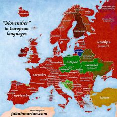 """""""May"""" in European Languages. maps map mapporn world geography information mapislife countries international continents languages spring month may culture European Languages, World Languages, United Nations Peacekeeping, Geography Map, Latin Words, Historical Maps, Humor Grafico, English Words, German English"""