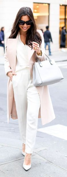Nude And White Inspiration Outfit by With Love From Kat