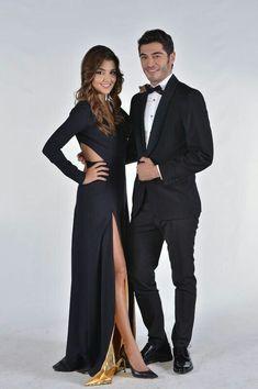 Hayat and murat Cute Love Couple, Best Couple, Beautiful Couple, Cute Celebrities, Celebs, Murat And Hayat Pics, Cute Love Stories, Hande Ercel, Turkish Beauty